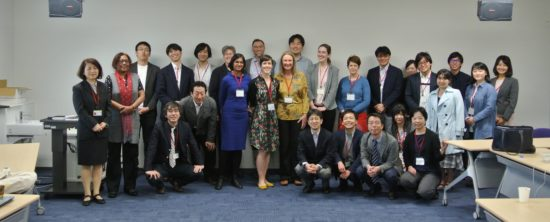 Group photo of participants at the Japan Health Risk and Disaster conference